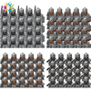 Disney 20Pcs Medieval Knights Soldiers Building Blocks Dwarf Elves Figures Bricks Educational Toys For Kids Christmas Gifts