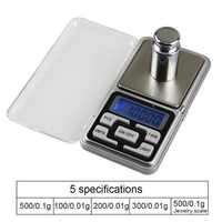 Mini báscula Digital de alta precisión para joyería, 100/200/300/500g, 0,01/0,1g, gramos de peso para Cocina