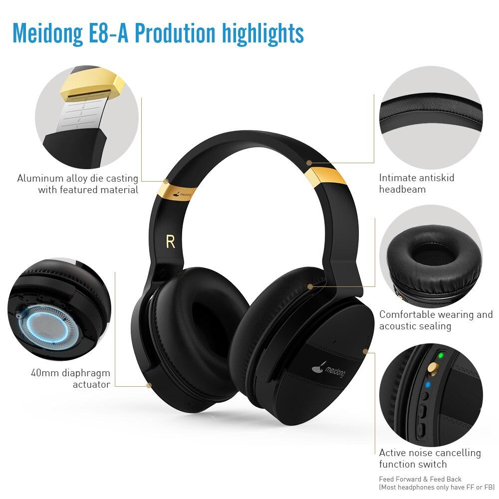 COWIN E8A, 20 часов, музыкальные Hi Fi наушники, ANC, шумоподавление, беспроводная Bluetooth гарнитура, Накладные наушники для компьютера, путешествий, кр... - 3