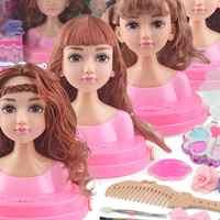 Куклы игрушка для девочек половина тела Make Up парикмахерские принцессы детские подарочные коробки, набор аксессуаров для девочки моделиров...