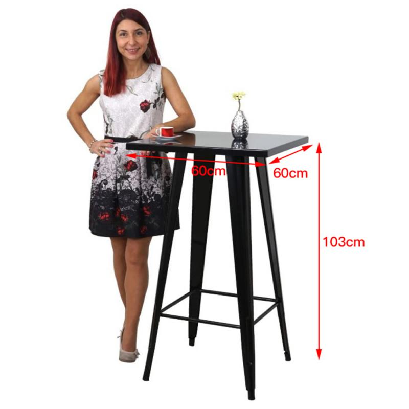 60*60*103cm Industrial Style Wrought Iron Bar Kitchen High Dining Table Modern Simple Leisure High Table Bar Coffee Table HWC