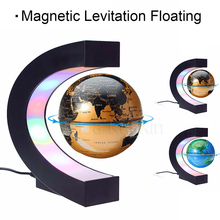 C-shaped magnetic levitation geography globe, suitable for luxury office home decoration, LED lighting is more luxurious and als