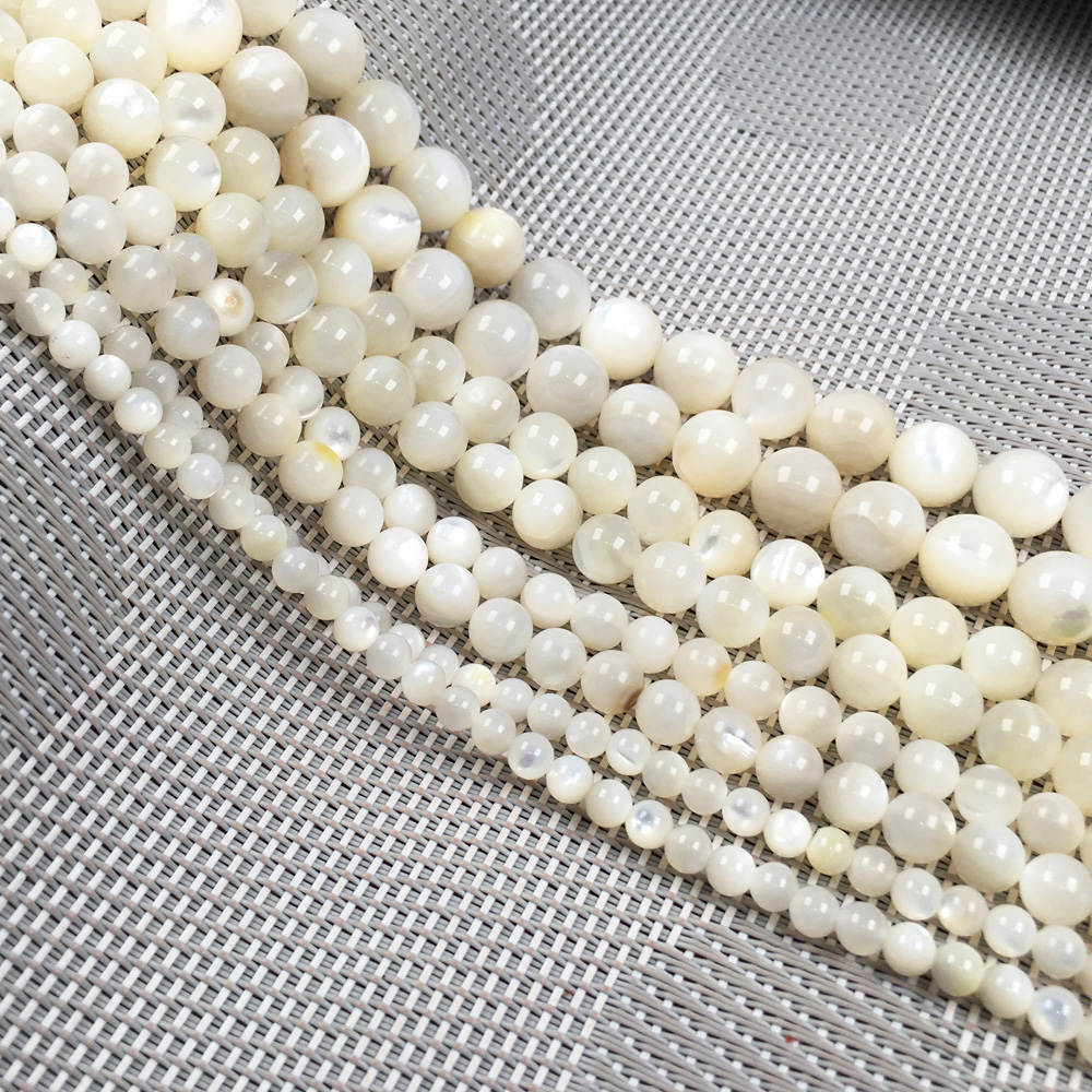 New 200 pcs 4mm Beige Glass Pearl Spacer Loose Beads Jewelry Making Wholesale