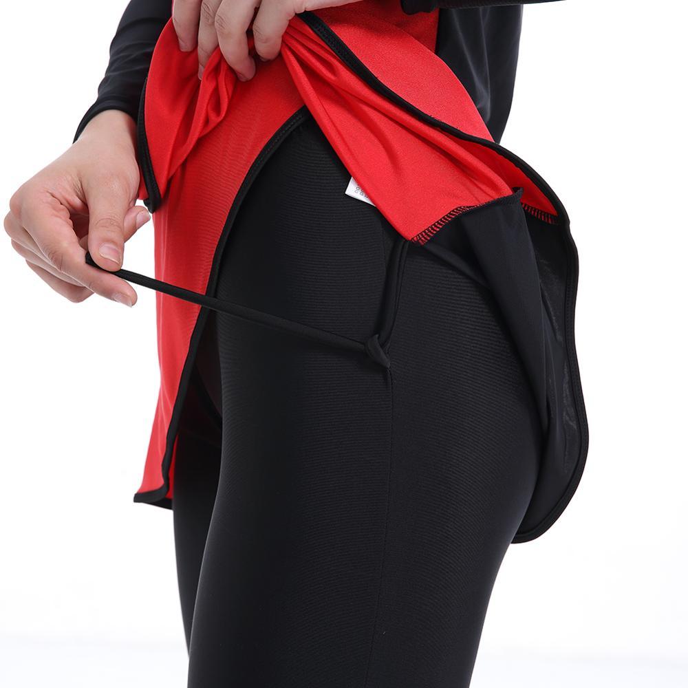 Image 5 - HAOFAN Muslim swimwear Women Middle East Islamic Traditional  Hijab Full Cover Burkinis Red Swimsuit Bathing Suit For Lady 4XLMuslim  Swimwear