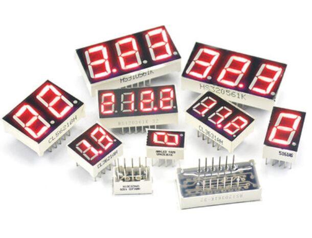 10PCS 0.36inch LED Display 7 Segment 1 Bit/2 Bit/3 Bit/4 Bit Digit Tube Red Common Cathode / Anode Digital