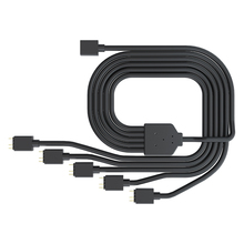 Cooler Master 1 to 5 3PIN 5V RGB fan adapter cable Computer Case fan Connector Cable Compatible ARGB extension For MSI ASUS