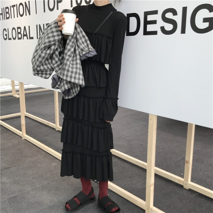 Korean Plaid Ladies Blazer Black Casual Loose Simple Suit Jacket Stylish Blazer Noir Femme Vintage Women's Clothing New MM60NXZ