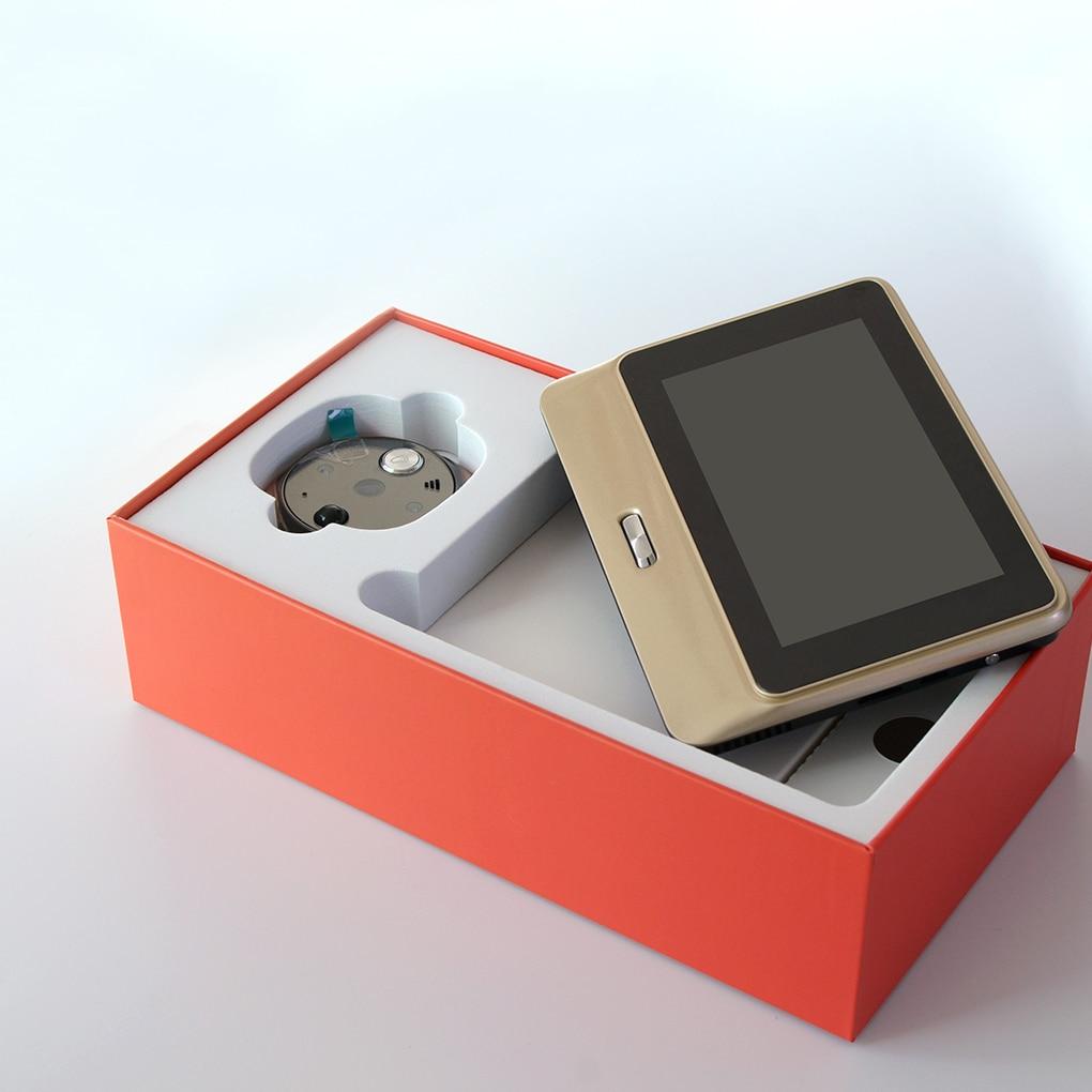 Sonnette 5 pouces numérique LCD écran visionneuse vidéo WiFi infrarouge porte de nuit judas caméra vidéo interphone sonnette