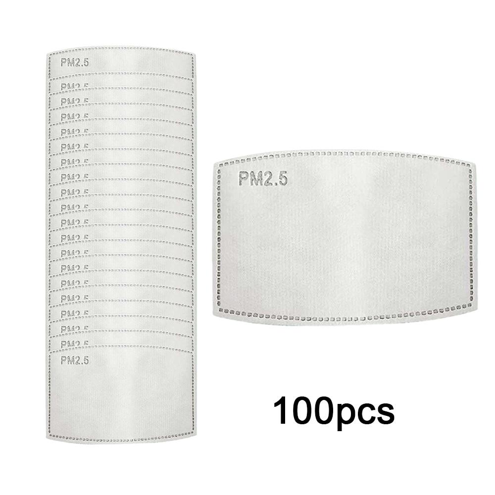 5pcs/20pcs/100pcs PM2.5 Filter Paper Anti Haze Mouth Mask Gasket Anti Dust Mask Pad Activated Carbon Filter Paper