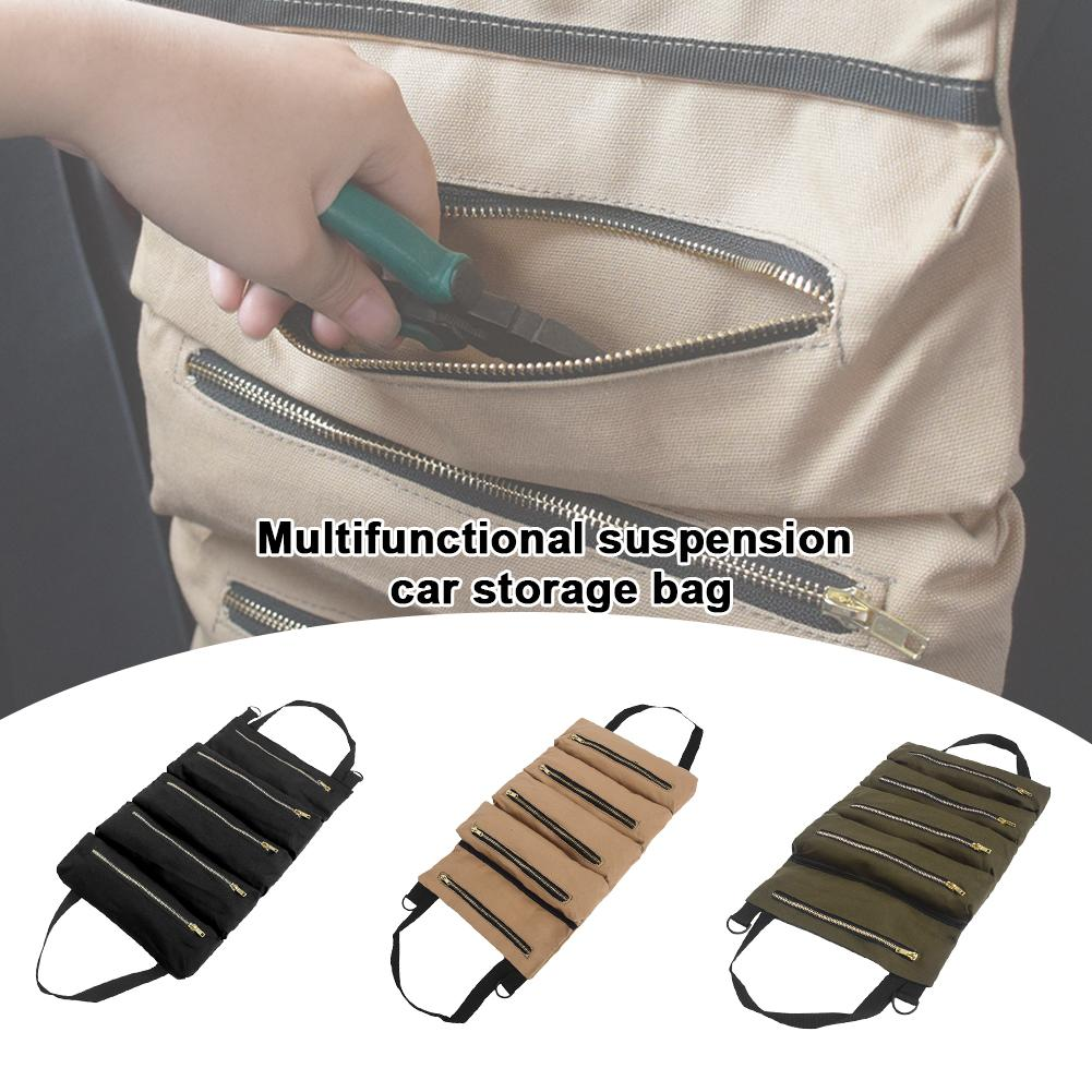Car-Storage-Bag-Kit Multifunctional Multi-Layer Portable for Products Suspension Canvas