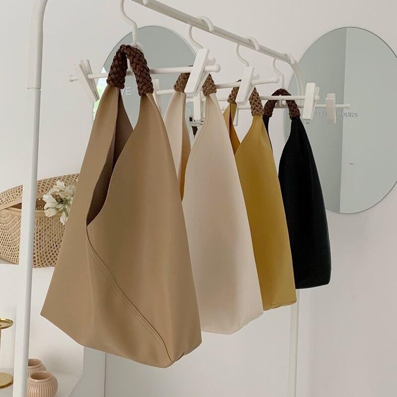 Женские сумки через плечо из ПУ кожи, дизайнерские вместительные сумки из мягкой мытой кожи для женщин, модная повседневная женская сумка|Сумки с ручками| | АлиЭкспресс - Аналоги сумок с показов мод осень-зима 2020/21