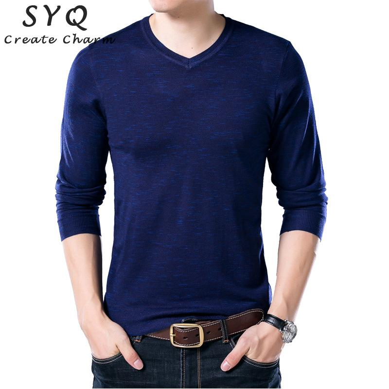 Autumn Men Knitting Sweater Fashion V-neck Striped Slim Fit Knit Pullovers Brands Casual Winter Keep Warm Wool Sweaters