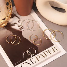 Hoop-Earrings Jewelry Creole Big-Circle Gold Small Silver-Color Round Women Simple Metal