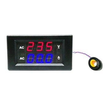 50A AC cyfrowy woltomierz z podwójnym wyświetlaczem LED amperomierz Amp Volt miernik napięcia prądu Tester wysokiej precyzji tanie i dobre opinie ACEHE Elektryczne 70x40x30mm 2 73x1 56x1 17in Digital Voltmeter Ammeter 0 1V 0 01A 20A-49A 1 (± 1 digit) AC 100 - 300V