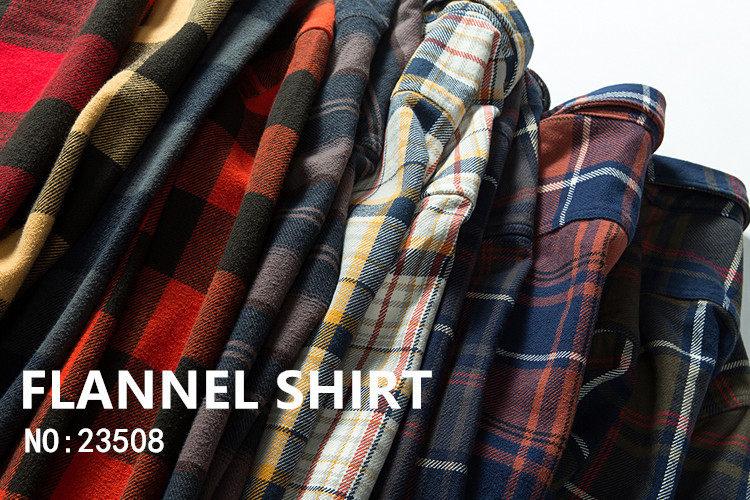 H4aa6e862515b4066af554ca2ad190ca0Y 100% cotton heavy weight retro vintage classic red black spring autumn winter long sleeve plaid shirt for men women