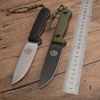 Pohl-cuchillos de hoja fija Niolox G10, mango lavado a la piedra 61HRC, bolsillo táctico de supervivencia para acampada y caza, herramientas EDC de autodefensa