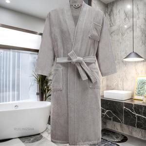 Image 5 - Star Hotel peignoir de bain 100% coton pour hommes et femmes, peignoir chaud, grande taille, Kimono, vêtements de nuit en éponge pour hiver