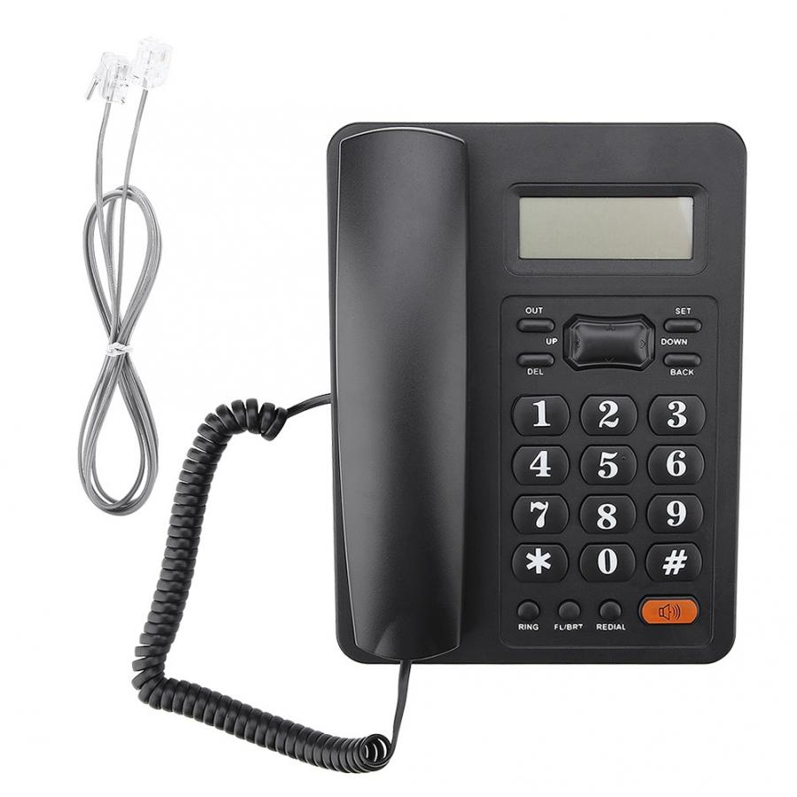 Office Home Landline Wired Telephone Caller ID Display DTMF/FSK Dual System Fixed Telephone telefono fijo para casa