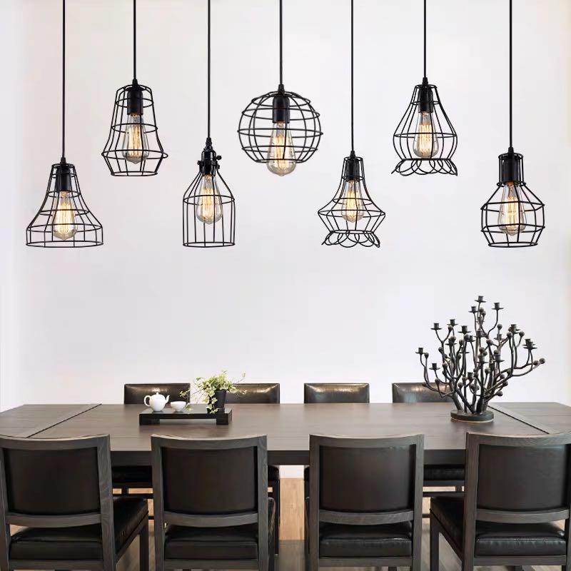 Retro industriellen stil kleine kronleuchter kreative persönlichkeit restaurant lampe bar bar kaffee shop krawatte yi einfache kronleuchter