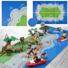 32x32 маленькие точки камуфляж морской остров Строительная пластина для строительных блоков морской пляж базовые блоки пластин игрушка