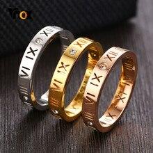 Vnox – bagues fines pour femmes, 3mm, chiffres romains creux avec AAA CZ stonggs, bague de fête élégante et Chic pour dames