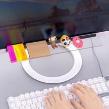 Creative Acrylic Stationery Organizer Office Monitor Memo Board Rack for Headphone/Name Card/Cable/Sundries 35*7cm