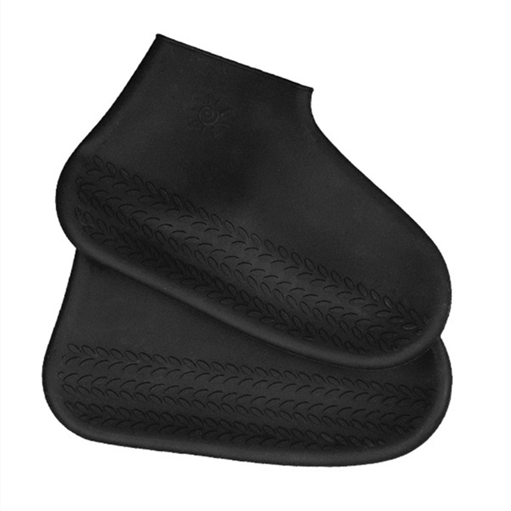 Waterproof Reusable Silicone Rain Shoe Cover Non-slip Portable Rubber Galoshes Shoe Protector For Indoor Outdoor Rainy Day S/M/L