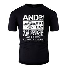 Hipster Air Force Royal Air Force Air Force Girlfriend Mens T Shirt 2020 Black T Shirt Male Size Xxxl 4xl 5xl Top Tee(China)