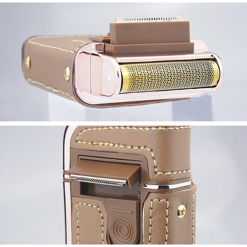 Kemei reciprocating lâmina flutuante barbeador elétrico 110-220v
