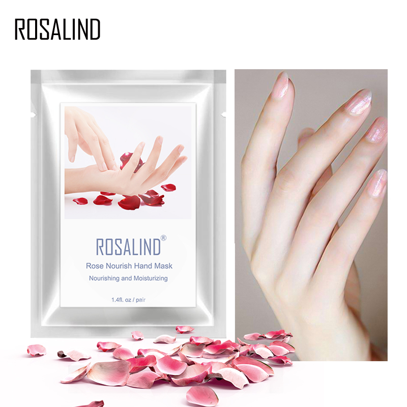 ROSALIND Hands Mask Exfoliating 2PC=1Pair Hand Care Moisturizing Spa Gloves Whitening Hand Cream Remove Dead Skin