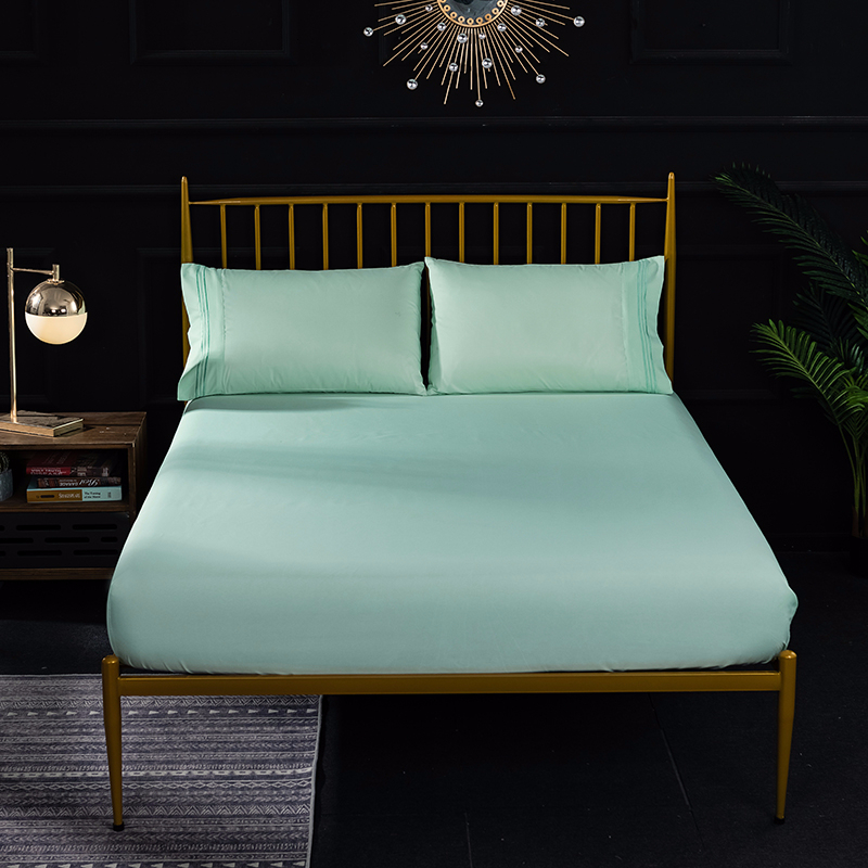 Reactive Printing Solid Color Simple Soft Cozy Mattress Cover Bedspread Polyester Stain Resistant Fitted Bed Mattress Bedroom