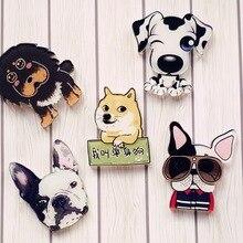 Kawaii Harajuku Style 1Pcs dog Badge Acrylic Brooch For Women/Man Clothes Badge Decorative Rozet Collar Scarf Lapel Pin Broach