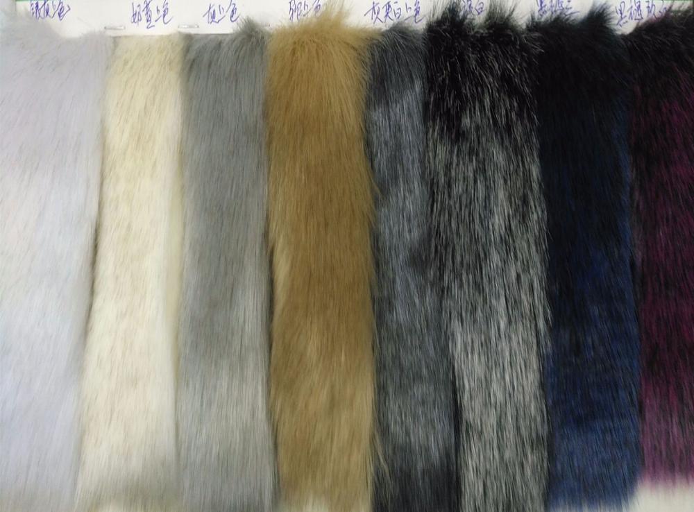 Мягкий лисий мех окрашенный кончик выцветший лисий мех плюшевая меховая ткань для игрушек - 3