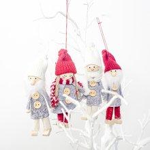 Рождественские украшения, шерстяная ткань, Рождественская кукла, подвеска, Рождественская елка, дерево, украшение, подвеска, детские игрушки