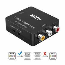 AV / RCA vers HDMI-convertisseur compatible CVBS vers HD 1080P haute qualité HD AV 2 HD-MI adaptateur pour TV PS4 PC DVD Xbox projecteur RCA