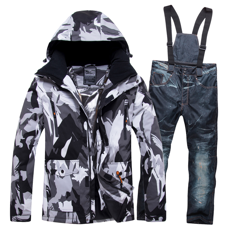 2019 NEW Lover Men And Women Windproof Waterproof Thermal Male Snow Pants Sets Skiing And Alpine  Ski Suit Men Jackets