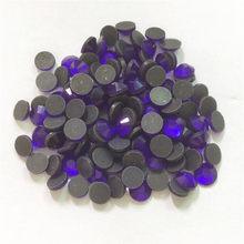 Ss16 ssss30, 1440 pçs/lote cobalto volta plana quente fix strass cristal ferro em pedras para o vestuário