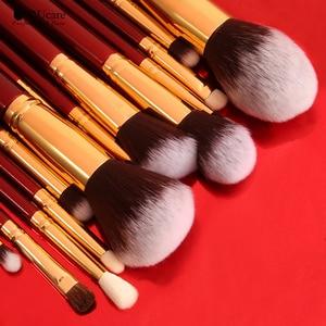 Image 3 - DUcare Makeup Brushes 27Pcs Classic red Professional Makeup Brush Set Premium Synthetic Goat Pony Hair Blending Brush MakeUp Kit