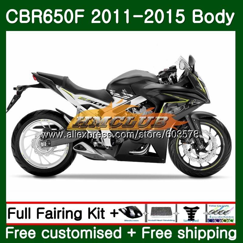 CBR-650F Pour HONDA CBR 650F 650 F 2011 2012 2013 2014 2015 130CL. 7 CBR650 F CBR-650 CBR650F 11 12 13 14 15 Brillant noir Carénage