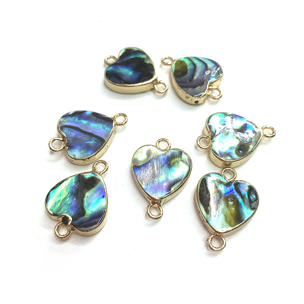 2020 Natural Shell Pendants Heart Golden plated Connector for Jewelry Making Charm Necklace Accessories Gifts for Women 12x18mm|Charms| - AliExpress