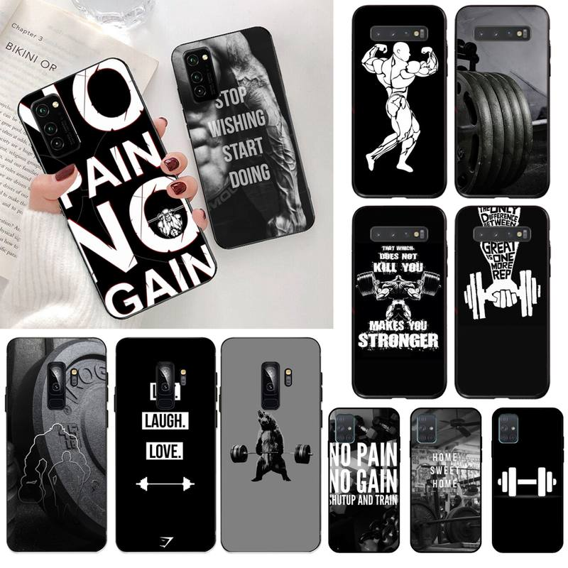 CUTEWANAN Bodybuilding Gym Fitness Coqu Bling Cute Phone Case for Samsung S20 plus Ultra S6 S7 edge S8 S9 plus S10 5G lite 2020