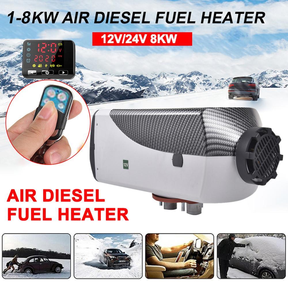 Réchauffeur de voiture 5KW/8KW 12 V/24 V Air Diesels chauffage chauffage de stationnement avec télécommande moniteur LCD pour camping-Car remorque camions bateaux