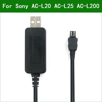 5V USB AC-L20 AC-L25 AC-L200 Power Adapter Charger Supply Cable For Sony HDR-SR11 HDR-SR12 HDR-TD10 HDR-TD20 HDR-TD30 HDR-TG1 фото