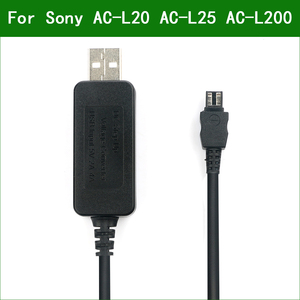 Image 1 - 5V USB AC L20 AC L25 AC L200 Power Adapter Charger Supply Cable For Sony NEX VG20 NEX VG30 NEX VG900 PXW X70 DCRA C171