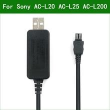 5V USB AC L20 AC L25 AC L200 Power Adapter แหล่งจ่ายไฟสำหรับ Sony NEX VG20 NEX VG30 NEX VG900 PXW X70 DCRA C171