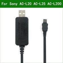 AC L20 USB de 5V AC L25 AC L200 Cargador/adaptador de corriente Cable de suministro para Sony NEX VG20 NEX VG30 NEX VG900