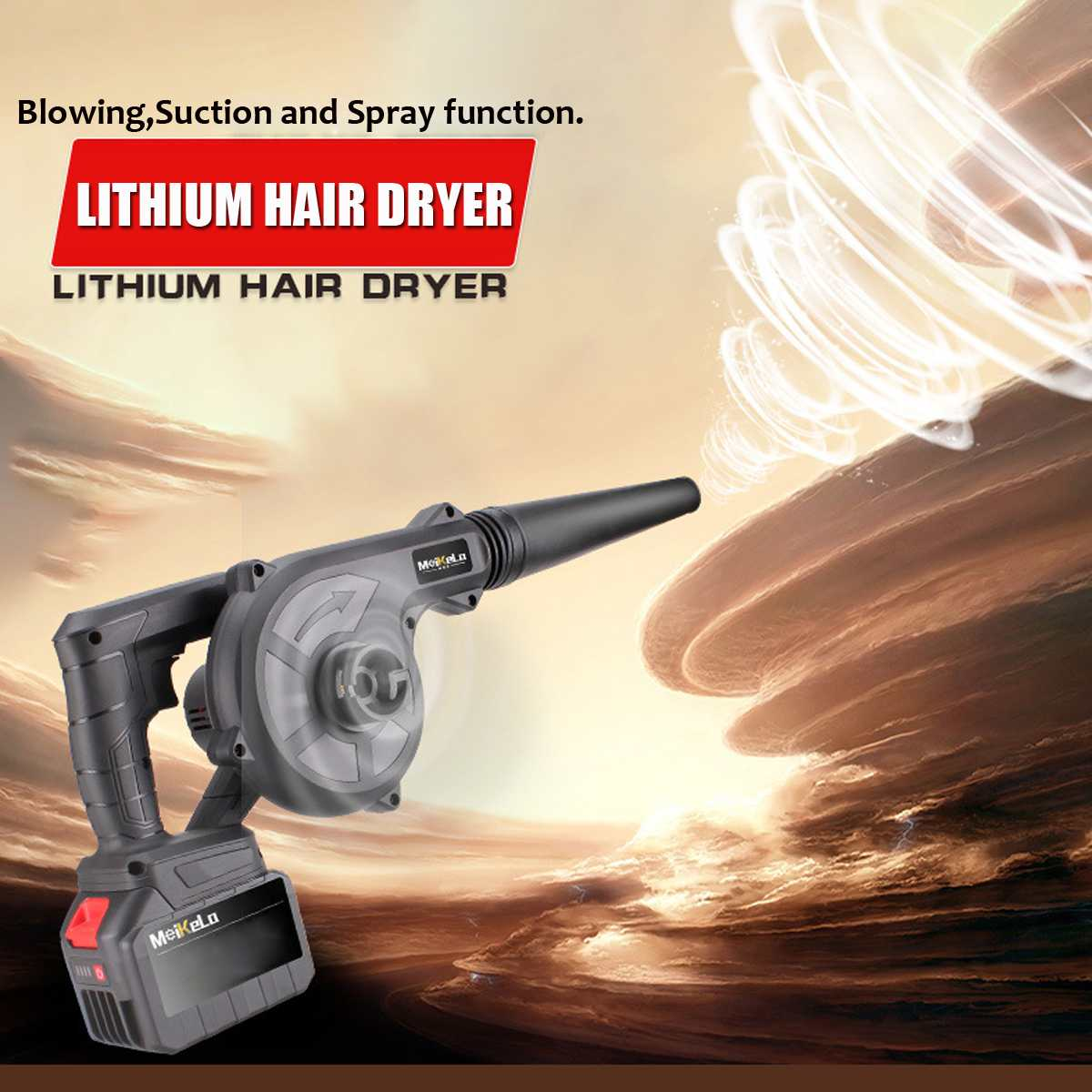 2000W Cordless Electric Air Blower Brushless Handheld Leaf Blower & Suction Li-ion Battery Computer Dust Collector Cleaner