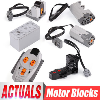 Power Functions Parts MOC Technic Electric RC Motors Compatible With Motor For 42009 Set Building Blocks Kid Toys Kits image