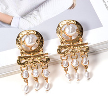 ZA New Accessories Pearl Drop Earrings Fashion Trendy Gold Dangle Pendientes Mujer Mode Statement For Women Wholesale