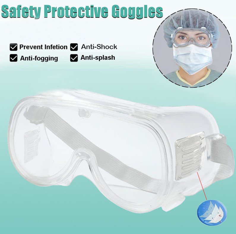Safety Goggles Fully Closed Breathable Glasses Dust-proof Anti-Fog Labor Lab Disposable Transparent Isolation Eye Mask D30